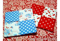 Cute handmade coasters. I can make these for gifts.