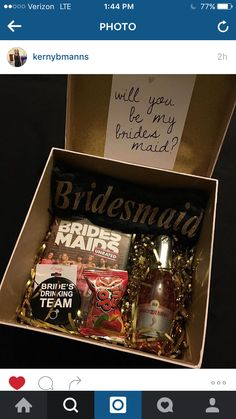 My bridesmaid proposal box!