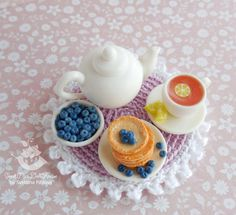 Miniature set teapot Cup and saucer от SweetMiniDollHouse на Etsy