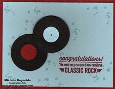Bombs Away Birthday Classic Rock Records by Michelerey - Cards and Paper Crafts at Splitcoaststampers