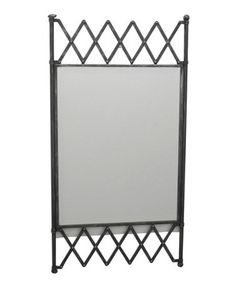 Loving this Industrial Metal Wall Mirror on #zulily! #zulilyfinds