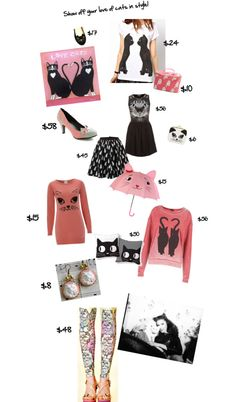 """""""cat fashion"""" by reneelifeinpink on Polyvore"""