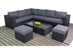 Port Royal Rattan Prestige Large Corner Sofa Set