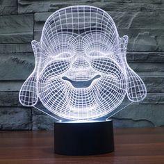 4e09900c635 Buddha 3D Night Light 7 Colors Changing LED Table Lamp Gift