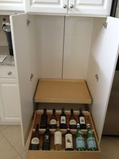 Wine drawer insert expandable drawer organizers for - Kitchen cabinets west palm beach ...