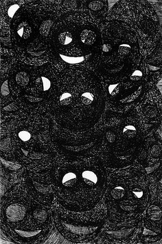 """""""smiles"""" - pen and ink, xeroxed, in drawings 