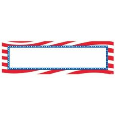 PATRIOTIC GIANT SIGN BANNER - Let freedom ring! Our Personalized Giant Sign Patriot Banner features a white sign with a stars and stripes border. Our banner includes 3in letter, symbol and number stickers that are perfect for creating your own patriotic message. Letter, number and symbol stickers are blue. Banner measures 65in x 20in. Patriotic banner is great for 4th of July, Memorial day and theme parties!   Send to a friend  Print notes