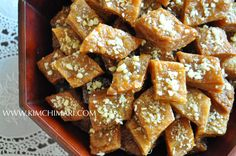 Yakgwa (약과)/ Yakwa is a traditional Korean sweet pastry that is rich with flavors of ginger and honey. Family recipe passed down through generations.