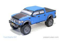 New papercruiser model: Ford Raptor SVT   papercruiser.com