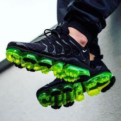 Nike Air VaporMax Plus  $190 Black/Volt Latest Sneakers, Sneakers Fashion, New Era, Nike Air Vapormax, Ugly Shoes, Air Max 1, Adidas Shoes, Air Max Sneakers, Shoes Sneakers