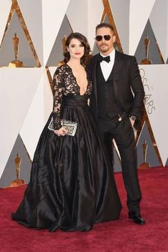Tom Hardy e Charlotte Riley  (Getty Images)