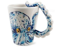 All of these octopus things I have fallen in love with! I could never do my kitchen in octopuses, but I love this mug soo much!