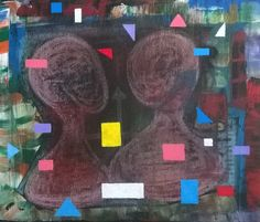 None agreement - Canvas/acrylic/pastel