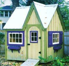 8x8 Dollhouse. Example has optional cedar flower boxes + arched door. Available as Plans, Kits - 2 people 20 hours + Fully Assembled in the northeast. Kits ship *Free in the continental US + eastern Canada. http://jamaicacottageshop.com/shop/doll-house-option-1/ http://cdn.jamaicacottageshop.com/wp-content/uploads/pdfs/pdf8x8dh.pdf http://jamaicacottageshop.com/free-shipping/ #playhouse #jamaicacottageshop #outdoorliving #garden