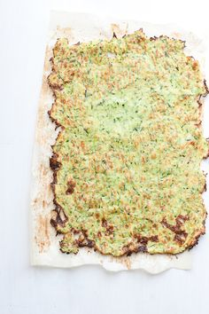 Paleo Zucchini Flatbread is a great alternative to traditional flatbread or lavash -- use it as a pizza crust, for sandwich roll-ups, or alone as a snack. Paleo Pizza Crust, Zucchini Pizza Crust, Paleo Bread, Gluten Free Bakery, Gluten Free Recipes, Low Carb Recipes, Cooking Recipes, Healthy Recipes, Regular Pizza