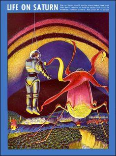 """Frank Rudolph Paul foi um ilustrador americano de ficção científica. Ele trabalhou para revistas pulp de sua época e pode servir como uma bom exemplo de como eram as pulps dos anos 1920. Franktem em seus créditos o fato de ter ilustrado uma estação espacial para a história """"A Guerra dos Mundos"""" de HG Wells, (...)"""
