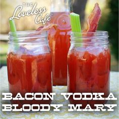 Bacon-Infused Vodka Bloody Mary. Amazing twist on the classic recipe!