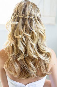 Braided, Bridesmaid Hairstyles Waterfall Braid: Alluring Waterfall Braid Hairstyles