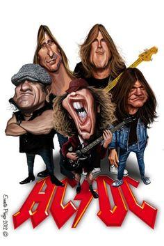 AC/DC cartoons: