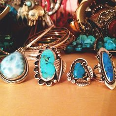 Style POP: Turquoise stone rings to add to your jewelry collection.