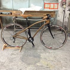 Animus bike red cedar wood and carbon