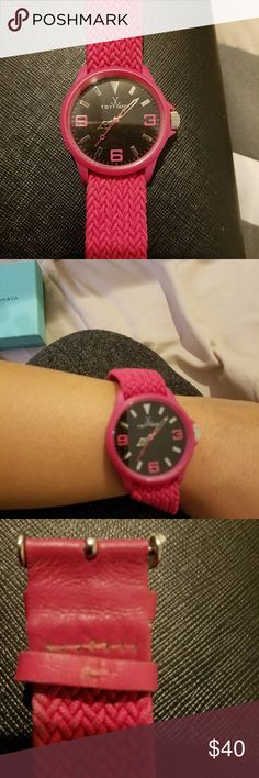 ToyWatch pink Dark pink ToyWatch.  used needs battery.  small  scratch on top of glass ToyWatch Accessories Watches