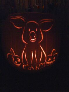 pig pumpkin carving - Google Search