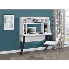 "$211.04 51.77""H 41.77""W 19.7""D Altra Eden White Wall-mounted Desk"