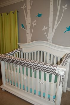 These crib rail guards are great for a teething baby ready to chomp down on his/her precious furniture, and are way cuter than the plastic stick-ons you find in stores. The ones pictured are made out of cotton, but can be custom made to your liking. I can use any type of material from the following: cotton, flannel, and fleece, including what colors and/or patterns youd like, and I can use up to two different patterns. You just give me the measurements (width and height) of your crib rails…