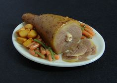 Roast Lamb with Trimmings - 1:12 Dollhouse Miniature Food | Flickr - Photo Sharing!