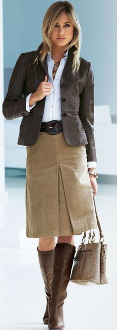 Fashion for the Office - (Maybe in 2013, but this is virtually identical to stuff I wore in high school.)