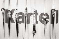 Kartell design team in 1969: Olaf von Bohr, Gino Colombini, Alberto Rosselli…