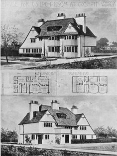1896 Unexecuted design: House for C. S. Loch at Oxshott for H. Rickards Edquire by C. F. A. Voysey