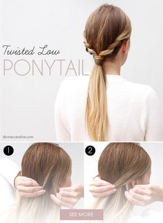 Amp up a traditional pony with this twisted style. Check out our site for the full hair tutorial.