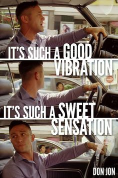 Don Jon!  This part on the preview cracked me up!! Jammin out then turns his head when he's caught!! LOL