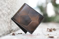 SOCCER BIFOLD Men's Leather Wallet PERSONALIZED от HouseofJackCo