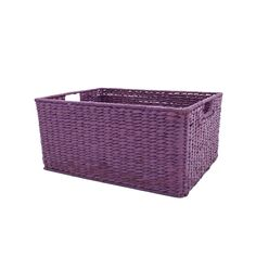 Ever thought a simple wicker basket could steal a room? Now that this one's been transformed with Krylon Colormaster Rich Plum, it's a purple storage statement piece! #Krylon127YardSale