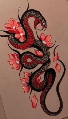 Snake Wallpaper, Cobra Tattoo, Tattoo Ideas, Tattoo Designs, Goth Art, Skull Tattoos, Phone Backgrounds, Snakes, Tattoo Art