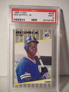 3e1fef6b52 1989 Fleer Ken Griffey Jr RC PSA Mint 9 Baseball Card #548 MLB Collectible  #SeattleMariners