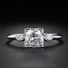 1.39 Carat Diamond Art Deco Engagement Ring  like the concept, not the execution