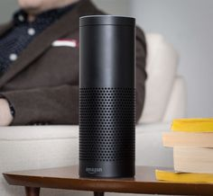 """The Amazon Echo looks like a regular old cylindrical Bluetooth speaker, but it doesn't just pump out music with premium sound—it listens to your every command. Here's an example. You connect the Echo to any of your Bluetooth devices, or just take advantage of what it already has—Amazon Prime Music, TuneIn Radio, iHeartRadio, and Pandora. Then you scream, """"Alexa! Play Kanye!"""" And she will."""