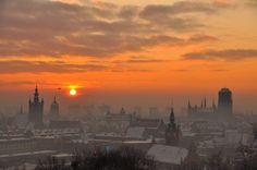 Sunset in Gdansk