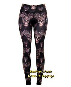 Compre já: http://hardrockpants.loja2.com.br   #calça #legging #estampada #moda #feminina #alternativa #personagens #Disney #MickeyMouse #caveira #skull #HardRockPants  