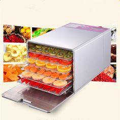 140.00$  Buy now - http://aliaqi.worldwells.pw/go.php?t=32743923964 - Stainless steel mini food dryer small banana mango lemon drying machine 6 trays meat dehydrator ZF