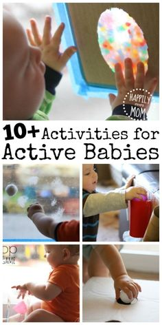 Easy activities to do with your baby. So quick to set up, too.