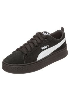 a37648be0488 Damen PUMA Smash Platform SD Sneaker schwarz weiß   - Kategorie  Damen  SchuheSneakerSneaker LowSneaker Material  Leder  Material  Glattleder  ...