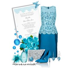 A fashion look from May 2013 featuring dolce gabbana dress, high heel stilettos and handbags clutches. Browse and shop related looks. Elegant Chic, Wedding Styles, Wedding Ideas, Work Attire, Mother Of The Bride, Passion For Fashion, Dress Up, Blue Skirts, Gowns