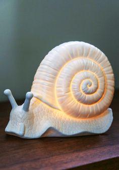 Come Snail Away Lamp   Mod Retro Vintage Decor Accessories   ModCloth.com