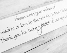 """wedding quilt signs for guest to sign   Customized Wedding Quilt guest book reminder sign - """"... Thank you for ..."""