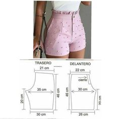 Sewing Shorts, Sewing Clothes, Diy Clothes, Clothes For Women, Baby Girl Dress Patterns, Dress Making Patterns, Como Fazer Short, Costura Fashion, Fashion Line